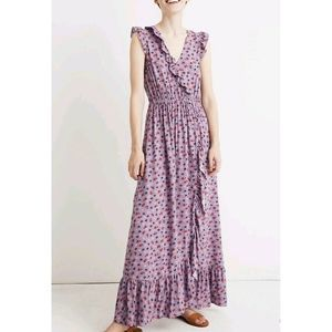 Madewell Size 10 Lilac Dress Prarie Posies  $138